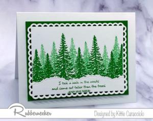 More Pretty Pine Tree Cards!