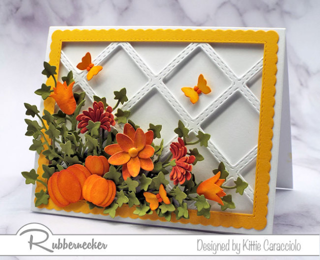 detailed handmade fall cards made using lots of small die cuts easily assembled to create an entire scene