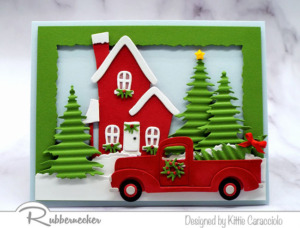 Making Die Cut Christmas Cards With Dimension
