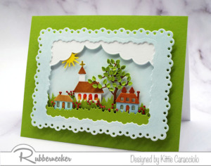 A Tiny Die Cut Village on a Card